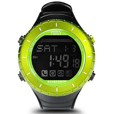 baratos Relógios Senhora-Mulheres Relógio Esportivo Ao ar Livre Fashion Preta Borracha Japanês Digital Verde Impermeável Smart Bluetooth 100 m 1conjunto Digital Um ano Ciclo de Vida da Bateria / LCD / Panasonic CR2032