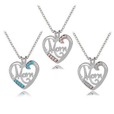 1b5e0a6980a Women's Cubic Zirconia Monogram Name Pendant Necklace Imitation Diamond  Heart Letter Fashion Modern Cute Cute White