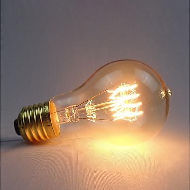 billige Elpærer-1pc 60 W E26 / E27 A60(A19) Gul 2300 k Kontor / Bedrift / Mulighet for demping / Dekorativ Glødende Vintage Edison lyspære 220-240 V