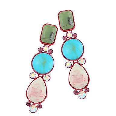 2fdd230294d2 Mujer Largo Pendientes colgantes Resina Diamante Sintético Aretes Colorido  Joyas Arco Iris Para Escenario Fiesta de