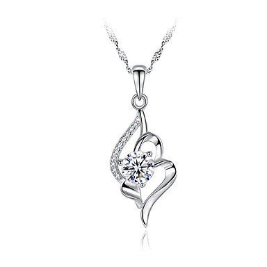 billige Mote Halskjede-Dame Anheng Halskjede Brudepike Sølv Sølv 45 cm Halskjeder Smykker 1pc Til Bursdag Daglig Stevnemøte Valentine