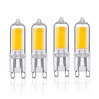 billige Elpærer-SENCART 4stk 2 W LED-lamper med G-sokkel 220 lm G9 T 1 LED perler COB Mulighet for demping Dekorativ Varm hvit Kjølig hvit 220-240 V 110-120 V