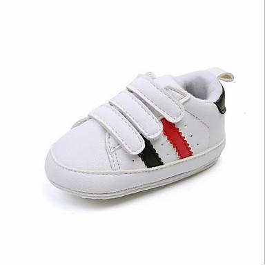 Aspirante Da Ragazzo Scarpe Pu (poliuretano) Primavera Primi Passi Sneakers Per Bambini - Bebè Nero - Rosso - Nero - Rosso #07215078 I Clienti Prima Di Tutto