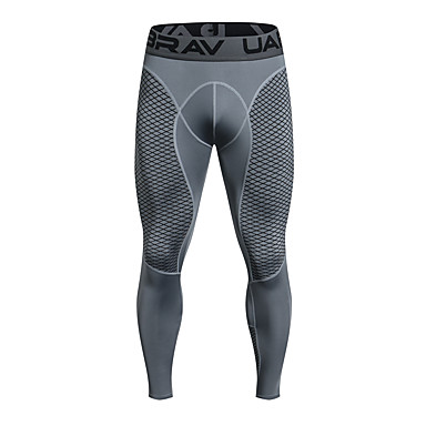 3b76fc536ae44 UABRAV Men s Compression Pants Running Tights Black Grey Sports Checkered    Gingham Elastane Compression Clothing Leggings Running Fitness Workout ...