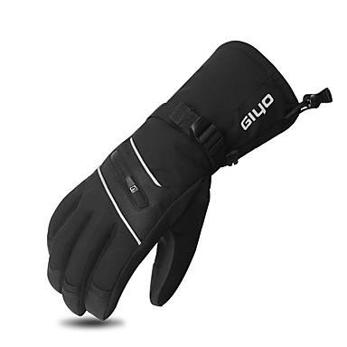 abordables Gants Velo-GIYO Gants vélo / Gants Cyclisme Gants de VTT Ecran tactile Chaud Coupe Vent Antidérapant Gant Tactile Gants sport Hiver VTT Vélo tout terrain Noir pour Adulte Moto