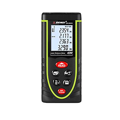 voordelige Waterpasinstrumenten-SNDWAY SW-M40A 40m Infrarood afstandsmeter Handheld / Handheld Design / Voice-uitzending voor slimme thuismeting / voor technische metingen / voor bouwconstructies