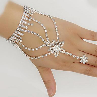 2b8f90f5c Women's Wrap Bracelet Ring Bracelet / Slave bracelet Star Ladies Iced Out Rhinestone  Bracelet Jewelry White For Wedding Party Daily Masquerade Engagement ...