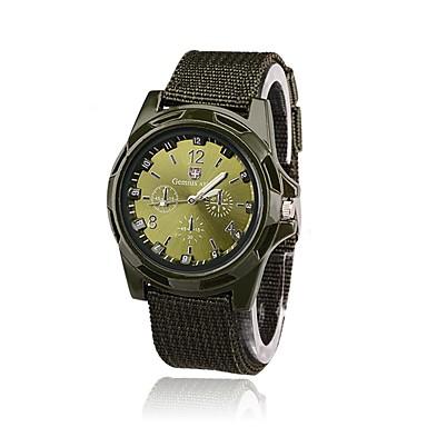 levne Vojenské hodinky-Pánské Vojenské hodinky Náramkové hodinky polní hodinky Křemenný Nylon Černá / Modrá / Zelená Hodinky na běžné nošení Analog - Digitál Vintage Módní - Černá Zelená Modrá Jeden rok Životnost baterie