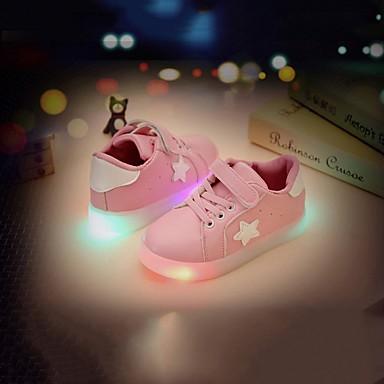 voordelige Babyschoenentjes-Meisjes Oplichtende schoenen PU Sneakers Peuter (9m-4ys) / Little Kids (4-7ys) LED Wit / Groen / Roze Lente / Rubber