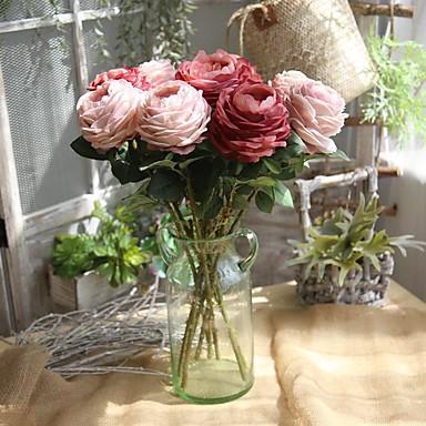 Yapay Çiçekler 1 şube Klasik Avrupa Güller Lotus Sonsuz Çiçekler Masaüstü Çiçeği