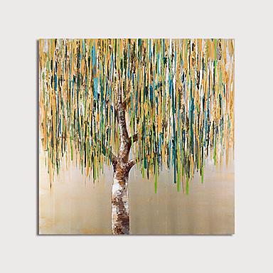 Hang-Painted öljymaalaus Maalattu - Abstrakti Kukkakuvio / Kasvitiede Moderni Sisällytä Inner Frame / Venytetty kangas
