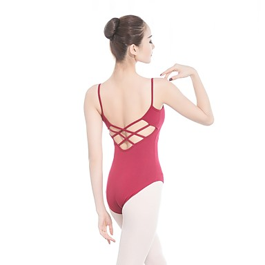 Danza classica Body Per donna Addestramento / Prestazioni Cotone / Elastene / Viscosa A fasce Senza maniche Calzamaglia / Pigiama intero