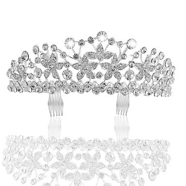 billige Hodeplagg til fest-Krystall / Legering Tiaras med Krystall 1 Deler Bryllup / Dagligdagstøy Hodeplagg