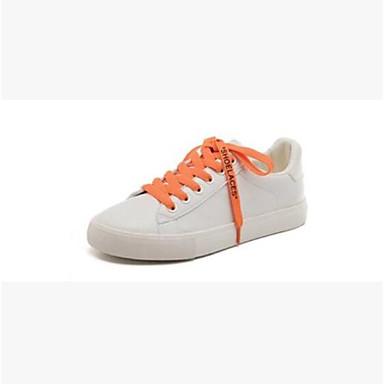 d14fcf1b2f2 Χαμηλού Κόστους Γυναικεία Παπούτσια-Γυναικεία Φο Δέρμα Ανοιξη καλοκαίρι  Καθημερινό Αθλητικά Παπούτσια Επίπεδο Τακούνι Στρογγυλή