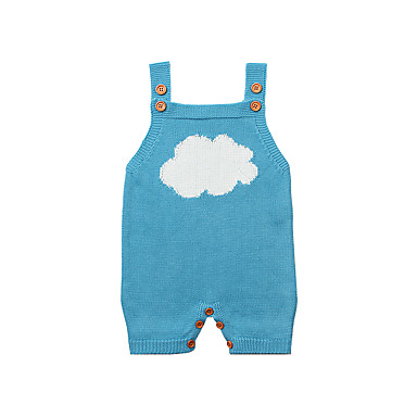 رخيصةأون صبيان ملابس الرضع-قطع واحدة بدون كم طباعة أساسي للصبيان طفل / طفل صغير