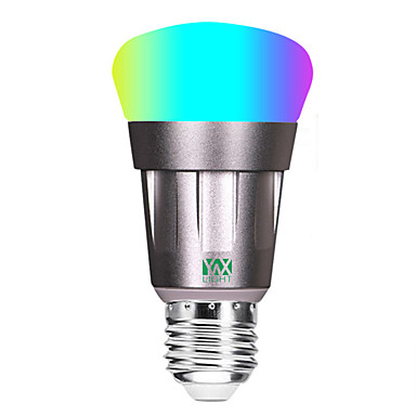 abordables Ampoules électriques-YWXLIGHT® 1pc 11 W Ampoules Globe LED 800-900 lm E26 / E27 - Perles LED COB Contrôle de l'APP Elégant Intensité Réglable RGBW 85-265 V / RoHs