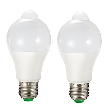 abordables Ampoules électriques-2pcs 9 W Ampoules LED Intelligentes 750 lm E26 / E27 A60(A19) 15 Perles LED SMD 2835 A détecteur Contrôle de la lumière Blanc Chaud Blanc 85-265 V