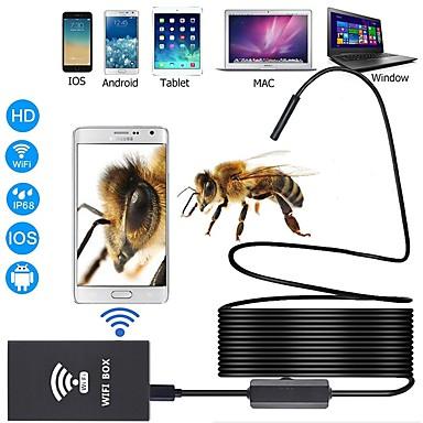voordelige Microscopen & Endoscopen-1 m 3,5 m 5 m 10 m werklengte 8 mm lens industriële endoscoop ondersteuning ios android tablet mac pc wifi endoscoop