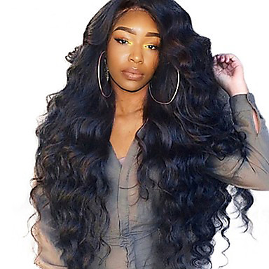 Ljudska kosa Lace Front Perika Stražnji dio stil Brazilska kosa Wavy Tijelo Wave Natural Perika 250% Gustoća kose s dječjom kosom Najbolja kvaliteta Rasprodaja Gust Prirodna linija za kosu Žene Dug