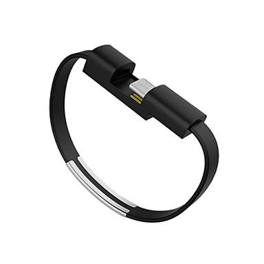 Type-C Kabel <1m / 3ft Flad ABS + PC USB-kabeladapter Til Samsung / Huawei / Nokia