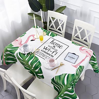 עכשווי יום יומי כותנה סיבי פוליאסטר ריבוע Cube כיסויי שולחן מפות שולחן מעוטר דמות מצוירת בתלת מימד מדפיס ידידותי לסביבה עמיד במים פרח לוח קישוטים