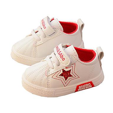 voordelige Babyschoenentjes-Meisjes Comfortabel / Eerste schoentjes PU Sneakers Zuigelingen (0-9m) / Peuter (9m-4ys) Zwart / Rood / Groen Lente