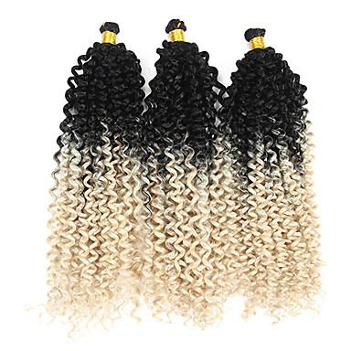 שיער קלוע מתולתל צמות טוויסט אפר קינקי צם צמות מתולתלות שיער סינטטי 3 חלקים שיער צמות צבע טבעי 14
