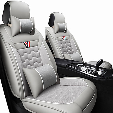 d75980c4ca4ea Car Seat Covers Headrest&Waist Cushion Kits synthetic fibre/Leather  comfortable for Protect front seat universal Black/Red/Orange/Black