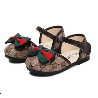 voordelige Babyschoenentjes-Meisjes Comfortabel Canvas Platte schoenen Peuter (9m-4ys) / Little Kids (4-7ys) Bruin / Roze Lente