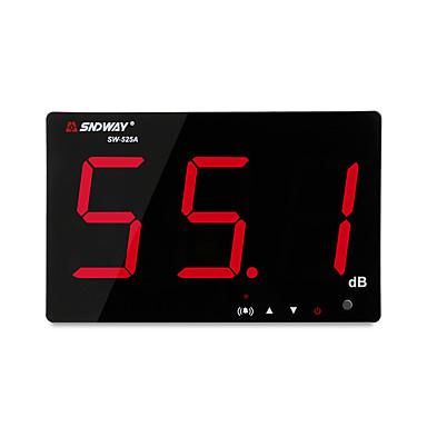 sndway sw-525a digitaalinen äänitaso mittari 30 ~ 130db suuri näyttö näyttö ravintola baari / toimisto / kotiseinä roikkuu melu mittari