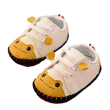 voordelige Babyschoenentjes-Meisjes Comfortabel / Eerste schoentjes PU Platte schoenen Zuigelingen (0-9m) / Peuter (9m-4ys) Geel / Rood / Blauw Herfst