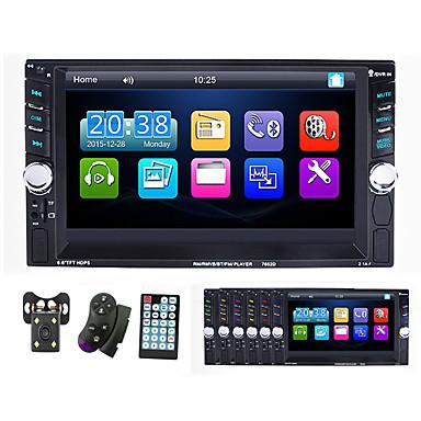 voordelige Automatisch Electronica-7-inch 2 din auto multimedia speler autoradio bluetooth touchscreen mp5 speler tf usb fm radio auto mediaspeler met ios / android spiegel link