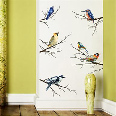 personlighed soveværelse kabinet dekoration farve gren fugl selvklæbende væg klistermærker klistermærker kunst stue studere tapet klistermærker