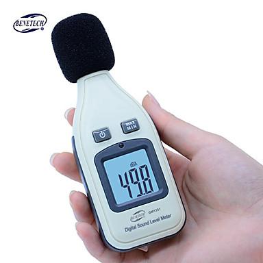 voordelige Test-, meet- & inspectieapparatuur-benetech gm1351 digitale geluidsniveaumeter decibel logger tester 30-130db ruis in decibel lcd analyzer tester