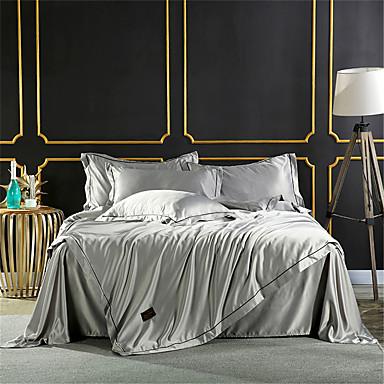Pussilakanasetti setit Yhtenäinen / Moderni Polyesteria Quilted 4 osainenBedding Sets / 4kpl (1 päiväpeite, 1 lakana, 2 tyynyliinaa)