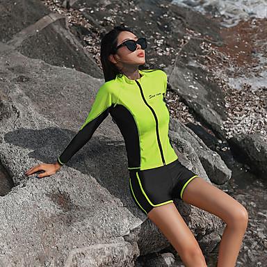 Naisten Rashguard-uimapuku Uima-asut Pidä lämpimänä Pitkähihainen 3-osainen - Uinti Yhtenäinen Kesä / Erittäin elastinen
