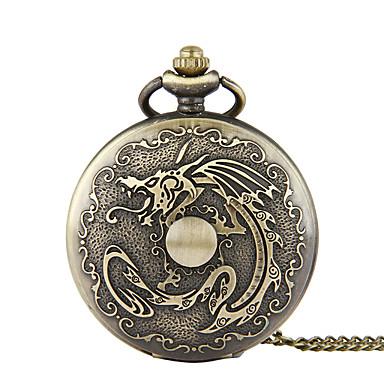 baratos Relógios Homem-Homens Relógio de Bolso Quartzo Bronze Criativo Relógio Casual Analógico Casual Desenho - Bronze