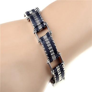 voordelige Herensieraden-Heren Armband Lasso Verticaal Europees silica Gel Armband sieraden Zilver Voor Dagelijks / Roestvast staal