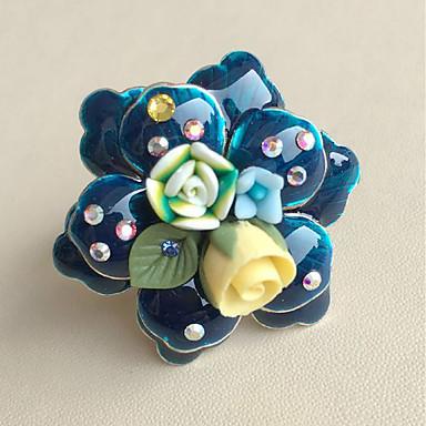 halpa Sormukset-Naisten Monivärinen Sormus Flower Suuri Muoti Muotisormukset Korut Sininen Käyttötarkoitus Kausaliteetti Päivittäin Säädettävä