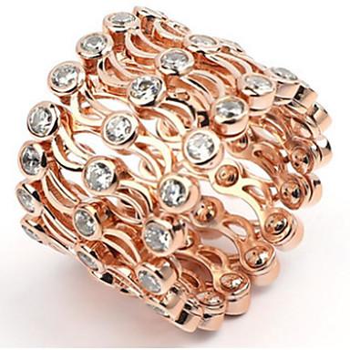 voordelige Ring-Dames Klassiek Verstelbare ring Verguld Vreugde Stijlvol Modieuze ringen Sieraden Goud / Goud Rose Voor Feest Dagelijks Verstelbaar