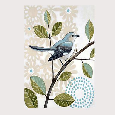 abordables Toiles-Imprimé Impressions sur toile roulées - Oiseaux Classique Art Prints