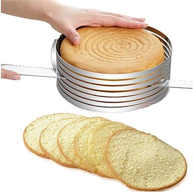 kakku muotti luova pyöreä säädettävissä leivin kakku vohvelin katkaisija