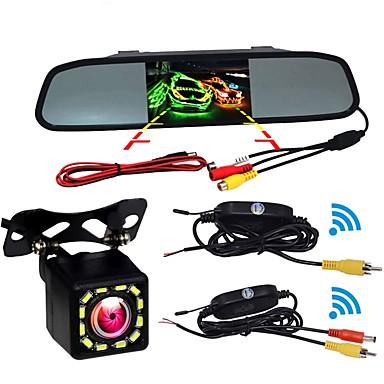 billige Bil Elektronikk-BYNCG W5 4.3 tommers TFT-LCD 480TVL 480 TV-Lines 1/4 tommers CMOS OV7950 Trådløs 120 grader 4.3 tommers Bakside Kamera / Bilomvendende skjerm / Hodet opp skjerm Vanntett / Nattsyn / LCD-skjerm til