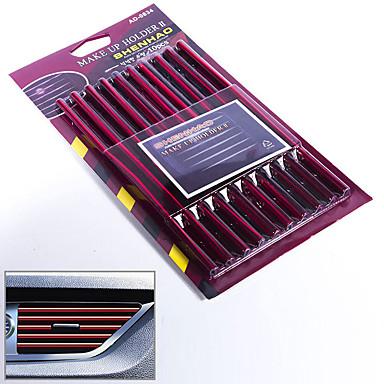 voordelige Auto-interieur accessoires-10 stks / set 12 kleur u stijl automotive afdichtstrip rubber auto luchtuitlaat afdichtstrip chroom rand trim