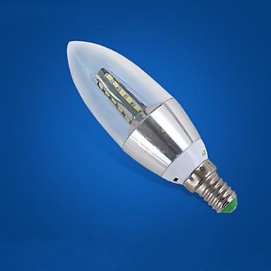 abordables Ampoules électriques-1pc 5 W Ampoules Bougies LED 210-310 lm E14 25 Perles LED Blanc Froid 220-240 V