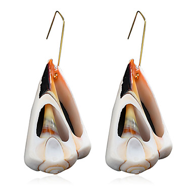 abordables Boucle d'Oreille-Femme Boucle d'Oreille Pendantes Naturel Tropical Coquillage Des boucles d'oreilles Bijoux Dorée Pour Mariage Soirée Quotidien Plein Air Travail 1 paire