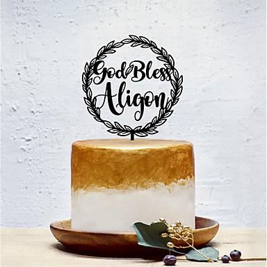 Kakkukoristeet Klassinen teema / Luova / Wedding Yksilöllinen / Romanttinen Akryyli Häät / Syntymäpäivä kanssa Yksivärinen 1 pcs OPP