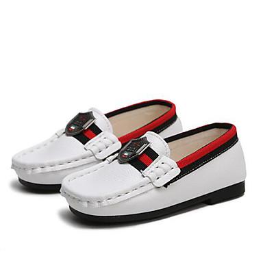 voordelige Babyschoenentjes-Jongens Comfortabel Imitatieleer Loafers & Slip-Ons Peuter (9m-4ys) / Little Kids (4-7ys) Wit / Zwart / Blauw Lente