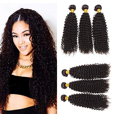 baratos Extensões de Cabelo Natural-6 pacotes Cabelo Malaio Kinky Curly Não processado Cabelo Natural 100% Remy Hair Weave Bundles Cabelo Humano Ondulado Um Pacote de Solução Extensões de Cabelo Natural 8-28 polegada Natural Tramas de