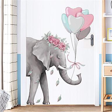 kreative enkle elefant væg klistermærker veranda korridor væg klistermærker sovesal soveværelse døre klistermærker dekorationer selvklæbende tapet